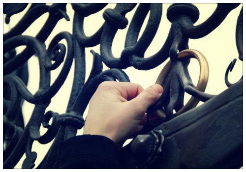 Бронзовое кольцо на Прекрасном фонтане