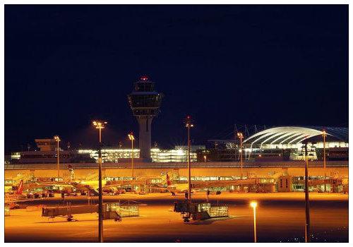 Вид на аэропорт в Эрдингер Моос