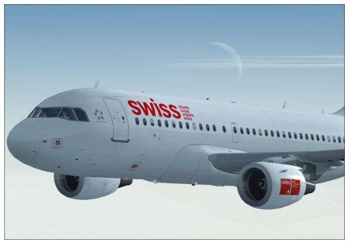 «Swiss» самолет.