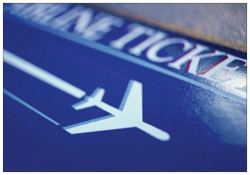 Билет на самолет.