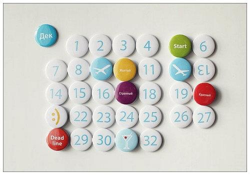 Магнитный календарь.