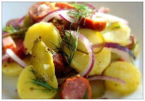 салат простой картофельный
