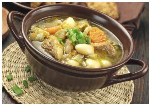 Горшок с супом.