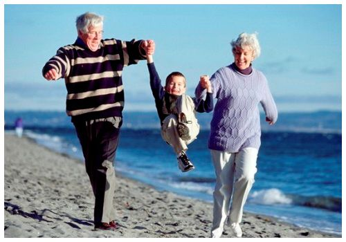 Бабушка, дедушка и внук