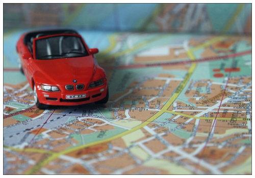 Машинка на карте.