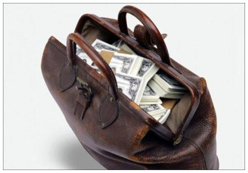 Сумка денег