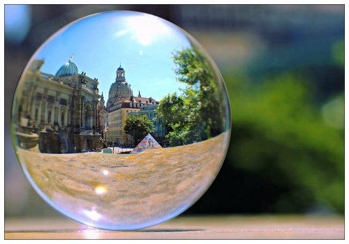 Дрезден в мльном пузыре
