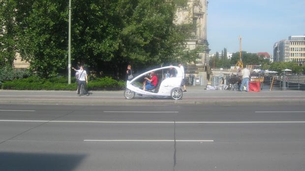 Велосипедное такси — экологичное средство передвижения по Берлину.